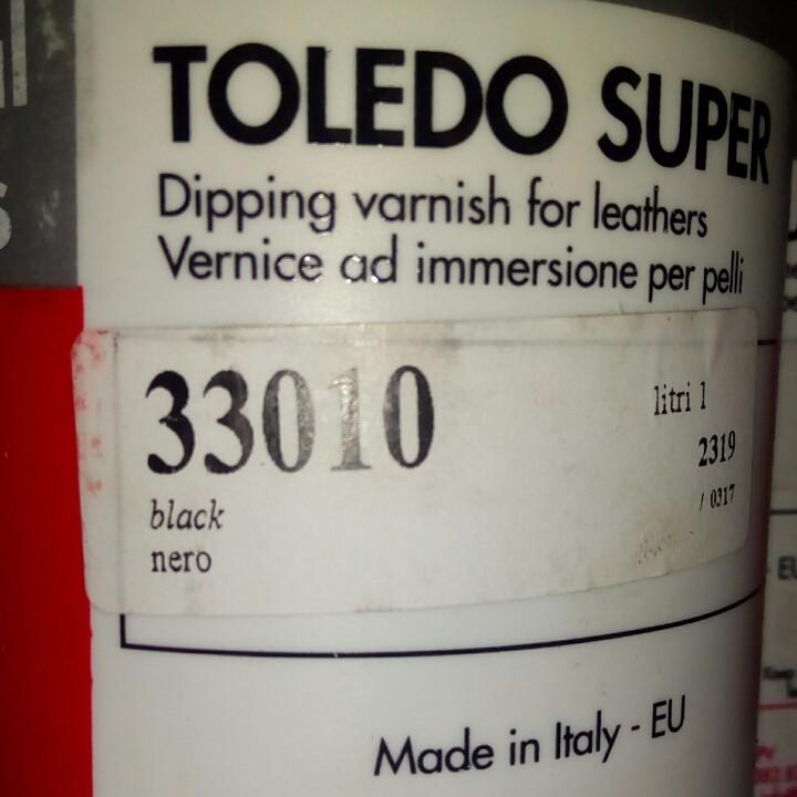 Краска для кожи Toledo Super 1л.чёрная.