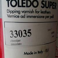 Краска для кожи Toledo коричневая 1л