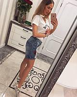 Женские красивые джинсовые шорты-бриджи, фото 1