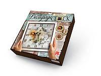 Danko Декупаж Часы (DKC-01-02) Свобода Decoupage Clock с рамой
