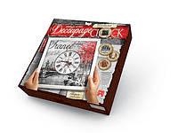 Danko Декупаж Часы (DKC-01-05) Париж Decoupage Clock с рамой