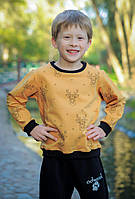 Свитшот ODWEEK Олени 280102  Желтый