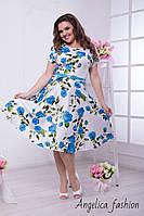 Женское летнее нарядное платье в цветочный принт , фото 1