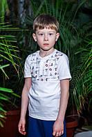 Футболка - поло для мальчика ODWEEK S.O.S 340120  Белая