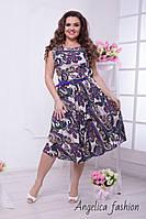 Женское летнее нарядное платье расцветка турецкий огурчик, фото 1
