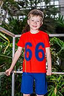 "Футболка для мальчика ODWEEK ""66"" 340110 Красный"