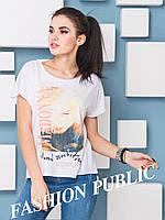 Стильная женская футболка с фото