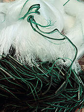 Сеть рыболовная одностенная 100м х 3м., ячейки (30,35) со вшитыми грузами, для промышленного лова, фото 2
