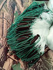 Сеть рыболовная одностенная 100м х 3м., ячейки (30,35) со вшитыми грузами, для промышленного лова, фото 3