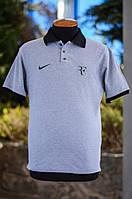 Мужская футболка ПОЛО Хит сезона цвет серый и белый р- 42, 44, 46, 48, 50, 52, 54, 56, 58