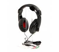 Гарнитура PrologiX MH-A750M Black, 2 x Mini jack (3.5 мм), накладные, регулятор громкости, микрофон, кабель 1.8 м