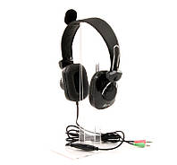 Гарнитура PrologiX MH-A770M Black, 2 x Mini jack (3.5 мм), накладные, поворотный микрофон, кабель 1.8 м
