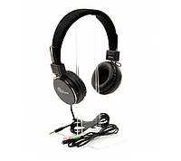Гарнитура PrologiX MH-A850M Black, Mini jack (3.5 мм) 4pin, накладные, микрофон на проводе, кабель 1.8 м