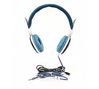 Гарнитура PrologiX MH-A920M-B Blue, Mini jack (3.5 мм) 4pin, накладные, адаптер 2x3,5 мм (3 pin), микрофон на проводе, кабель 1.8 м