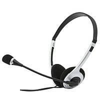 Гарнитура Sven AP-010MV Black, 2 x Mini jack (3.5 мм), накладные, поворотный микрофон, кабель 2 м