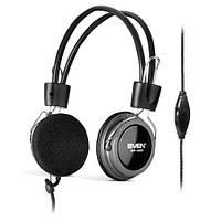 Гарнитура Sven AP-520 Black, 2 x Mini jack (3.5 мм), накладные, регулятор громкости, микрофон, кабель 2.2 м