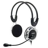 Гарнитура Sven AP-525MV Black, 2 x Mini jack (3.5 мм), накладные, поворотный микрофон, кабель 2.2 м
