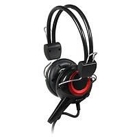 Гарнитура Sven AP-640 Black/Red, 2 x Mini jack (3.5 мм), накладные, микрофон, кабель 2.2 м