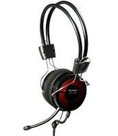Гарнитура Sven AP-540 Black/Red, 2 x Mini jack (3.5 мм), накладные, микрофон, кабель 2.2 м