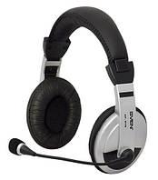 Гарнитура Sven AP-875 Black/Silver, 2 x Mini jack (3.5 мм), накладные, поворотный микрофон, кабель 2 м