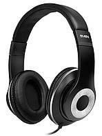 Гарнитура Sven AP-930MV Black/Silver, Mini jack (3.5 мм) 4pin, накладные, микрофон на проводе, кожаные, кабель 1.36 м