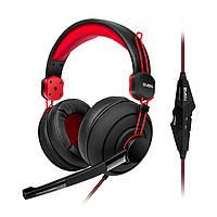 Гарнитура Sven AP-G888MV Black/Red, Mini jack (3.5 мм) 4pin, накладные, адаптер 2x3,5 мм (3 pin), микрофон, кабель 1.2+1 м