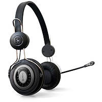 Гарнитура Sven GD-330MV Black/Silver, 2 x Mini jack (3.5 мм), накладные, регулятор громкости, микрофон, кабель 2.4 м