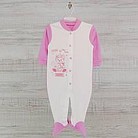 Человечек для новорожденного р.80 средний. Хлопок-Интерлок,1402инкс. 5-8 месяцев, В наличии 68,74Ро