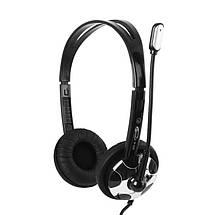Наушники с микрофоном Gemix HP-403MV Black/Silver, гарнитура, фото 2
