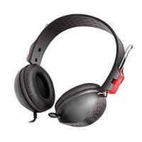 Наушники с микрофоном Gemix HP-663MV Black/Red, 2 x Mini jack (3.5 мм), накладные, выдвижной микрофон, кабель 2.4 м