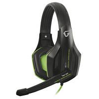Наушники с микрофоном (игровая гарнитура) Gemix W-330 Gaming Black/Green, 2 x Mini jack (3.5 мм), накладные