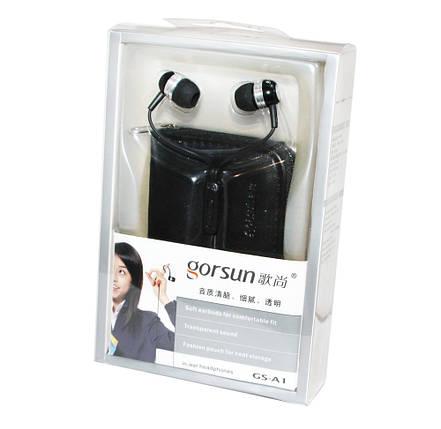 Наушники Gorsun GS-A1 Black, Mini jack (3.5 мм), вакуумные, кабель 1.2 м, фото 2