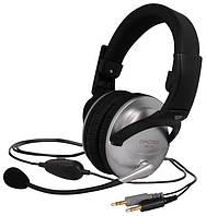 Наушники KOSS SB49 с микрофоном кабель 2,4м наушники 18-20000 микрофон 100-16000Гц разъем 2x3,5мм серебро