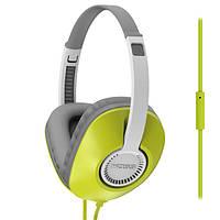 Наушники KOSS UR23i Green, Mini jack (3.5 мм), накладные, микрофон на проводе, кабель 1.2 м