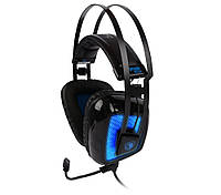 Наушники Sades SA919S Black/Blue, 1 x USB, накладные, кабель 2.2 м