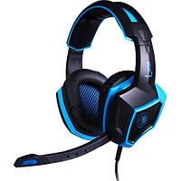 Наушники Sades SA968 Black/Blue, 7.1, 1 x USB, накладные, кабель 2.2 м