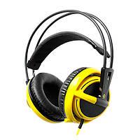 Наушники SteelSeries Siberia V2 Na`Vi Edition (51111) Black/Yellow, 2 x Mini jack (3.5 мм), накладные, кабель 1+2 м