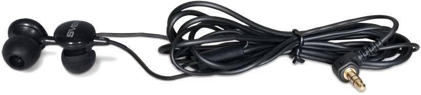 Наушники Sven SEB-110 (GD-1100) Black, Mini jack (3.5 мм), вакуумные, кабель 1.2 м, фото 2