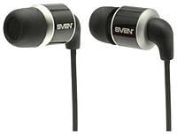 Наушники Sven SEB-26 BK Black, Mini jack (3.5 мм) 4pin, вакуумные, микрофон на проводе, кабель 1.5 м