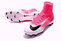 Футбольные бутсы Nike Mercurial Superfly V FG Race Pink/Black/White, фото 1