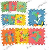 Коврик мозаика M 0386 EVA растения, 10 деталей 29*29*0,8 см, развивающие пазлы для Вашего малыша