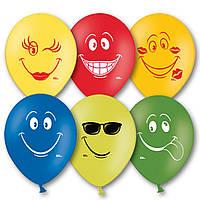 """Воздушные шары  Улыбка 10,5"""" (27 см), 50 штук в упаковке, фото 1"""