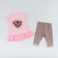 Туника и лосины для девочки ТМ Фламинго, стрейч-кулир (артикул 420-421)