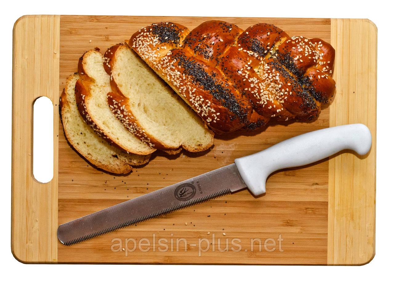 Нож для бисквита средний с пилочкой лезвие 19,5 см