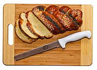 Нож для бисквита средний с пилочкой 34 см