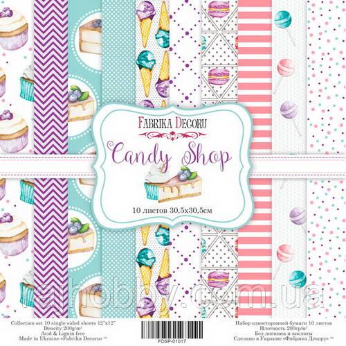 Фабрика Декору Набор скрапбумаги Candy Shop 30.5 Х 30.5 см
