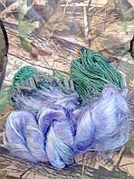 Сеть рыболовная трехстенная 100м х 2м., ячейки (50,55) со вшитыми грузами, для промышленного лова