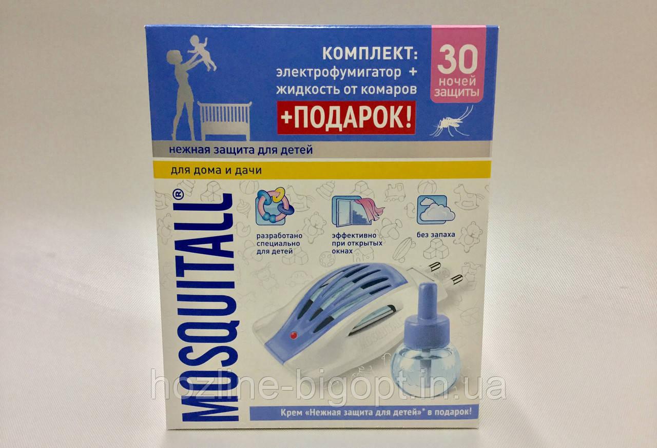 Mosquitall Прибор с диодом НЕЖНАЯ ЗАЩИТА ДЛЯ ДЕТЕЙ + Жидкость 30 ночей + МАГНИТ в подарок