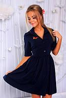 Летнее платье с пышной юбкой