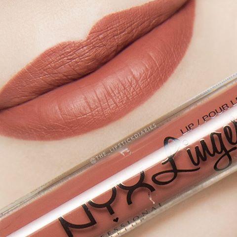 Жидкая матовая помада NYX Lip Lingerie цвет Seduction